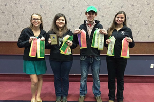 The Cass County 4-H Horse Judging Team placed sixth overall nationally out of a very competitive group of teams.