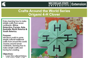 Crafts Around the World Series: Origami 4-H Clover