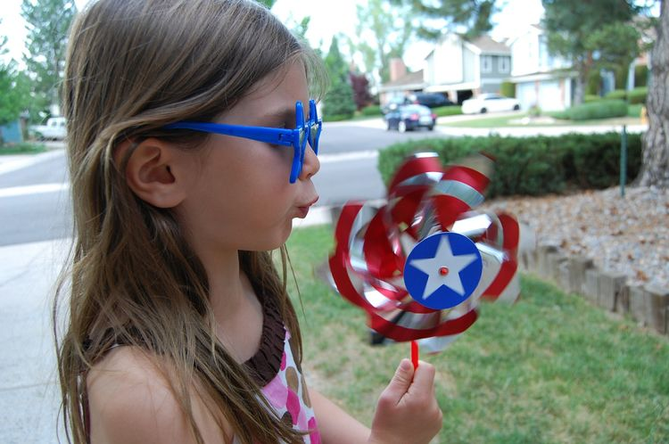 Blowing a pinwheel can help children learn to manage their breathing, which can help them in controlling strong emotions.