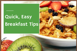 Eating breakfast kick-starts your metabolism and makes you eat less during the rest of your day. The best breakfast consists of fruit, whole grains, a bit of fat and some protein.