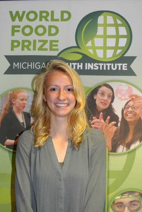 Student Scout Senyk at Youth World Food Prize
