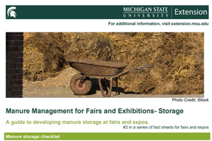 Manure Management for Fairs and Exhibitions – Storage