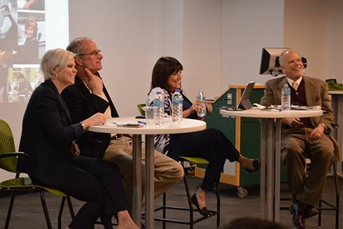 Image of the speakers sitting at the panel during the SPDC Industry Seminar Series.