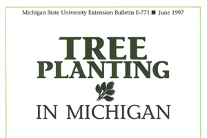 This is a 12 page publication about tree planting in Michigan.