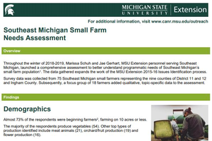 Southeast Michigan Small Farm Needs Assessment