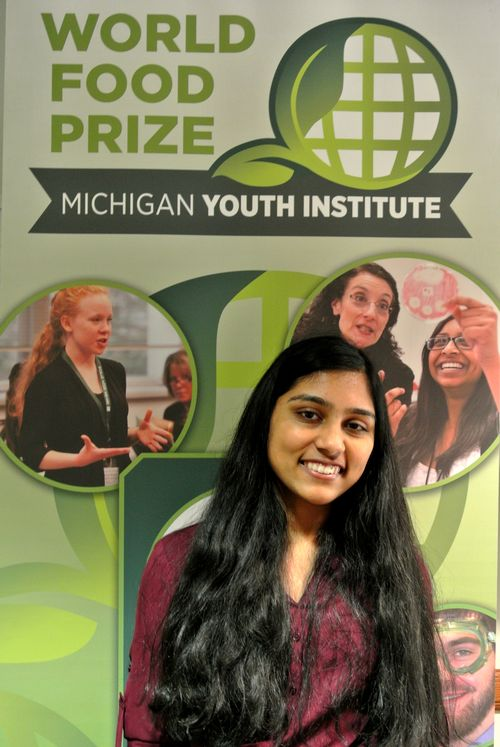 Neha Middela at the 2017 World Food Prize Michigan Youth Institute.