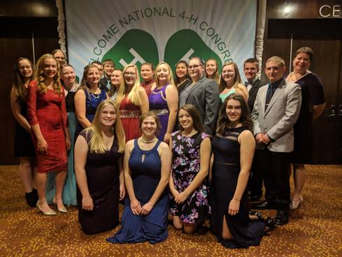Michigan delegates to the 2017 National 4-H Congress enjoy the Congress Gala. Photo by Matt Newman.
