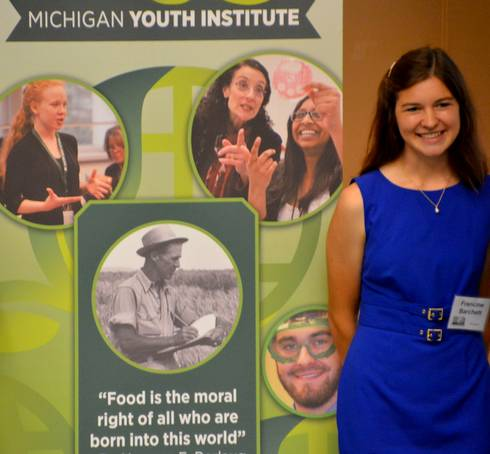 Francine Barchett at the 2015 Michigan Youth Institute.