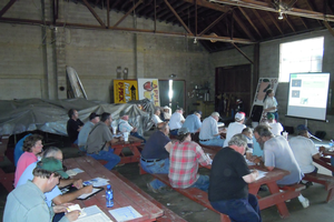 Growers at a meeting