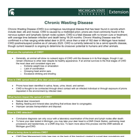 PDF document with overview of Chronic Wasting Disease