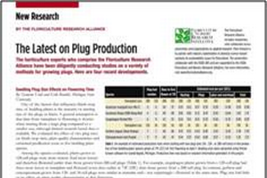 The latest on plug production: Seedling plug size effects on flowering time