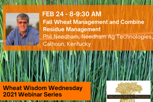 Phil Needham will present at Wheat Wisdom Webinar Series on Feb. 24