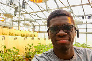 Isaac Lartey values how he can impact others with a horticulture degree