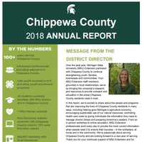 Chippewa County Annual Report Cover 2018-19