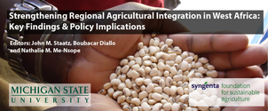 Banner for book release: Strengthening Regional Agricultural Integration in West Africa: Key Findings & Policy Implications