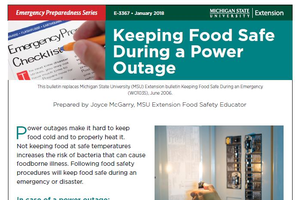 Keeping Food Safe During a Power Outage (E3367)