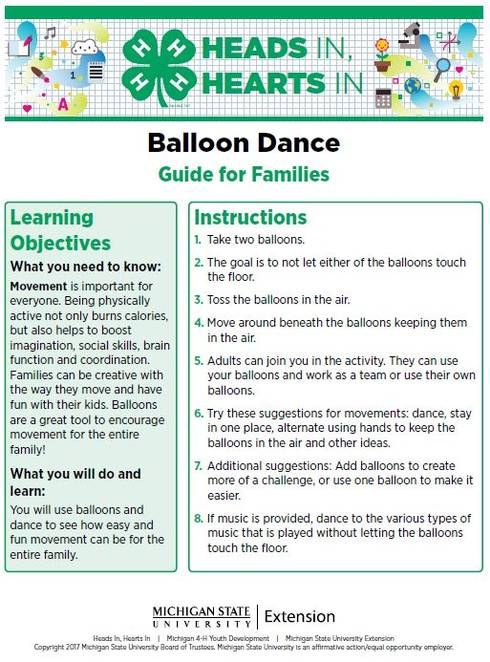 Balloon Dance cover page.