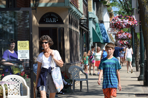 Downtown Charlevoix. Photo courtesy of the Michigan Municipal League.