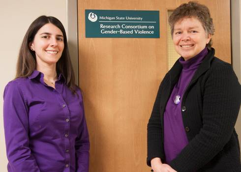 April Zeoli (left), MSU assistant professor of criminal justice, and Cris Sullivan, MSU professor of psychology