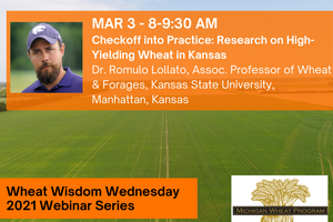 Romulo Lollato will present at Wheat Wisdom Webinar Series on March 3