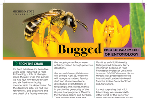 Entomologists making a difference at home and abroad featured in Spring 2019 Bugged newsletter