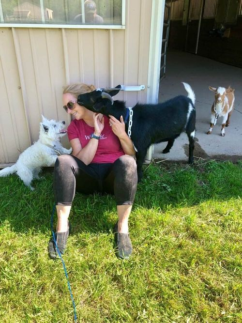 OFTP '19 Graduate Cindy Kern tends her goats at Cardinal Farms