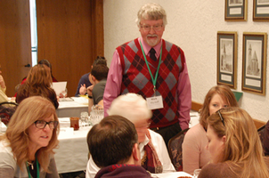 ZAC trainer Mark Wyckoff joins attendees of the 2015 ZAC Program in discussion. Photo courtesy of Kurt H. Schindler, AICP, MSUE
