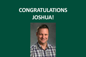 Joshua G. Cohen receives MSU Extension Innovative Technology Award