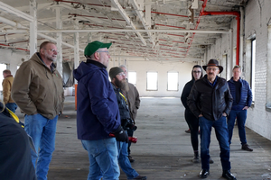 participants tour the Mill at Vicksburg in Kalamazoo