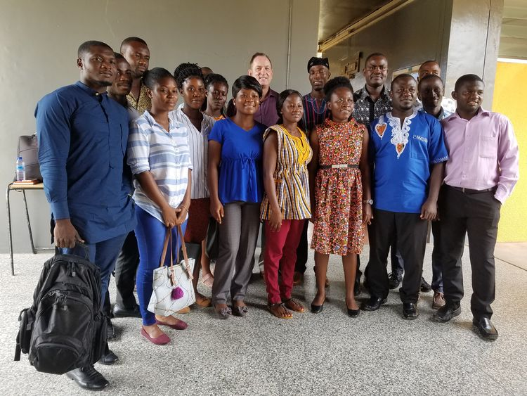 BHEARD Seed Science students with BHEARD Program Director John Medendorp and Ghana Regional Coordinator Saviour Badohu.