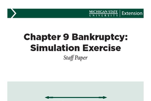 Chapter 9 Bankruptcy: Simulation Exercise