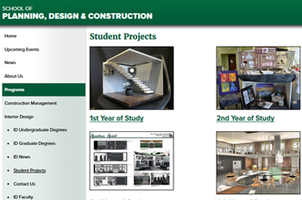 Inteior Design Student Projects gallery splash page