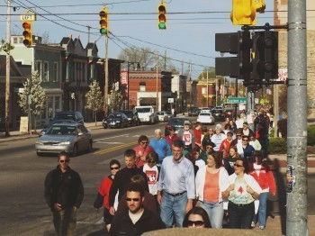 Past Hunger Walks have drawn over 600 individuals. Photo courtesy Access of West Michigan.