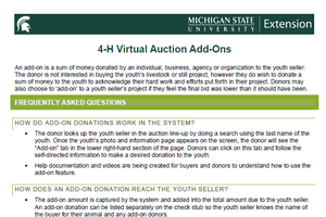 4-H Virtual Auction Add-Ons