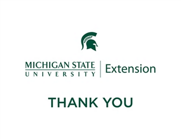 MSU Extension Logo on Thank You card.