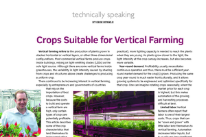 Crops suitable for vertical farming