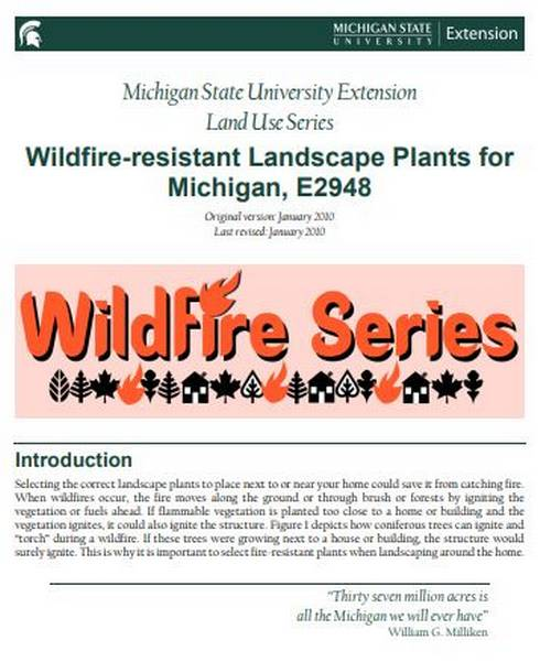 Wildfire-resistant Landscape Plants for Michigan cover