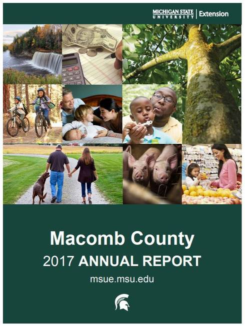 Macomb County Annual Report Cover 2017-18