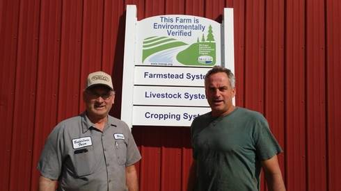 Blaine and Kim Baker. Photo Courtesy of Lenawee Conservation District.