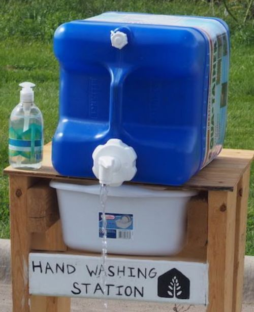 Handwashing station