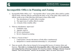 Incompatible Offices in Planning and Zoning