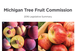 2016 Michigan Tree Fruit Commission Legislative Report cover