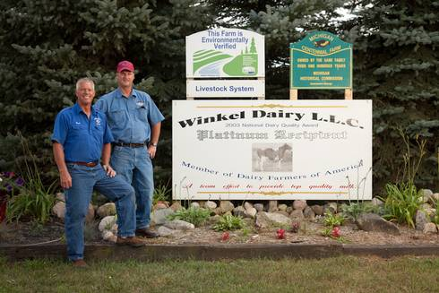 Dairy Farmer of the Year Award recipients Jim and Jack Winkel.