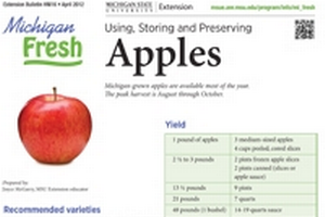 Michigan Fresh: Using, Storing, and Preserving Apples (HNI16)