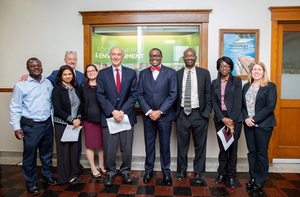 FSG Faculty Meets with Akin Adesina, President of the African Development Bank, 2017 World Food Prize Laureate