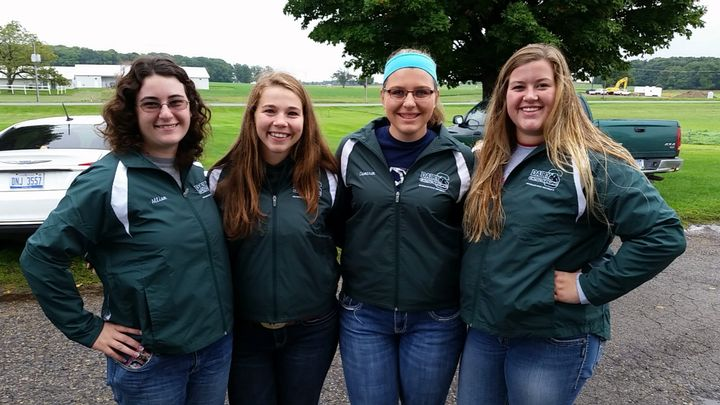 Four Michigan 4-H members compete on the national stage at the National 4-H Dairy Cattle Judging Contest on Oct. 3, 2016 in Madison, Wisconsin.