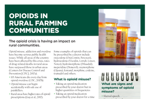 Opioids in Rural Farming Communities