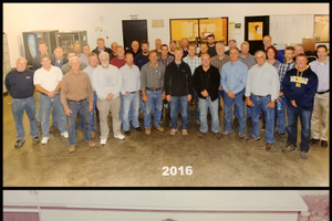 Kalamazoo Valley Plant Growers members in 2016 (top) and 1975 (bottom). Photos courtesy of the Kalamazoo Valley Plant Growers Co-op.