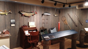 Historical fish boxes and lures are among the items on display at Tri-Cities Historical Museum Photo: Tri-Cities Historical Museum