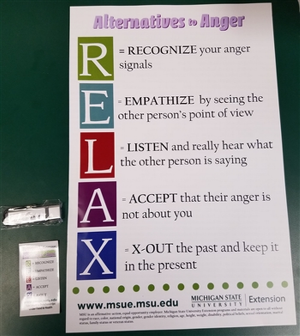 Alternatives to Anger RELAX Poster